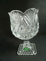 Shannon Crystal Designs of Ireland Tulip Vase 24% Lead Crystal Pedestal Dish