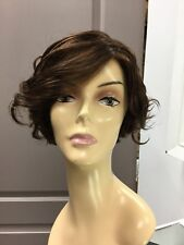 Gabor TOUSLED Lace Front Short Curly Shag Wig, GL6/30 Brown + Copper Highlights