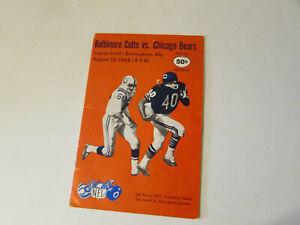 1968 CHICAGO BEARS VS BALTIMORE COLTS FOOTBALL PROGRAM BIRMINGHAM ALABAMA