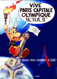 """1992 Paris  Candidate City Olympic Poster Condition Very Good size: 15.75"""" x 22"""""""