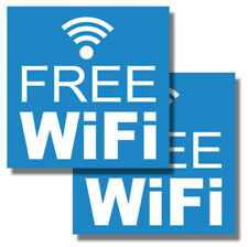 """2 Pack of 6"""" Inch Free Wifi Sticker Window Door Vehicle Wall Decal bb"""