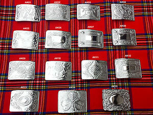 Scottish Kilt Belt Buckle In 15 Designs - Kilts Belts Buckle