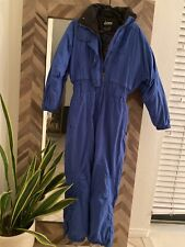 Women's Vintage 90's Nordica Classics Blue Snowsuit 8P with Embroidered Flowers