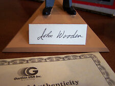 UCLA BRUINS BASKETBALL COACH JOHN WOODEN SIGNED  AUTO GATLIN FIGURINE CERTIFIED