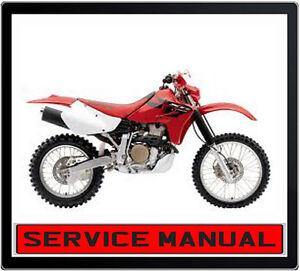 HONDA XR650R BIKE WORKSHOP REPAIR SERVICE MANUAL ~ DVD