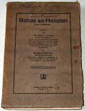 1930 Philippine Dr. Jose P. Laurel Batas Sa Halalan Pamphlet