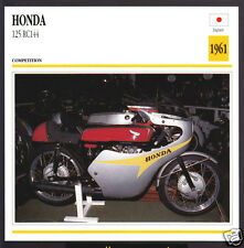 1961 Honda 125cc RC144 Japan Race Motorcycle Photo Spec Sheet Info Stat Card