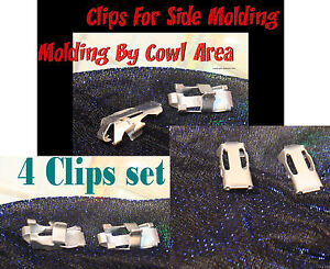 Corvette  1956 1957 1958 1959  1960 1961 1962 Long Side Stainless Clip By Cowl