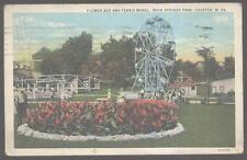 Postcard ROCK SPRINGS PARK West Virginia Ferris Wheel & Aero Swing Ride 1920's