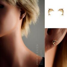 Paire de Boucles d'oreilles Dauphin Plaqué Or - 2422900 - BigBang-Bijoux.com