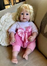 WEIGHTED LIFE LIKE ADORA DOLL BLONDE HAIR BLUE EYES REALISTIC BABY