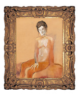 PABLO PICASSO 1904 ORIGINAL HAND SIGNED VINTAGE PAINTING REALISM FEMALE FIGURE