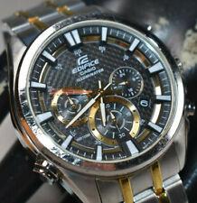 Casio Edifice Men's Illuminator Chronograph 45mm Watch EFR537SG-1AV NEW BATTERY!