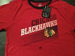 Chicago Blackhawks NHL majestic large shirt