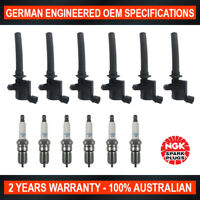 6x Genuine NGK Platinum Spark Plugs & 6x Ignition Coils for Ford Escape BA ZA