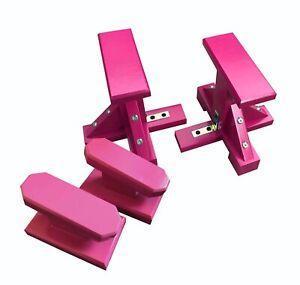 Duo Set - Mini Gymnastic Pedestals (Rectangle Grip) and Yoga Handstand Blocks