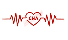 CNA Heartbeat Rhythm Nurse Sticker Vinyl Decal Window Sticker Car