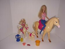 Mixed Lot...Barbie Doll, Chelsea, Horse, Pony with Saddles & Accessories