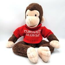 VTG 1988 Eden Toys Curious George sitting brown monkey red name sweater plush