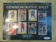 1992-93 PARKHURST HOCKEY LIMITED EDITION COMMEMORATIVE SHEET #1844/7000