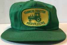 VTG John Deere Farmers Tractor Rushville Indiana Patch Green Yellow Hat  SnapBack 11efe9d44f05