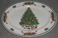 Johnson Brothers VICTORIAN CHRISTMAS PATTERN Oval Serving Platter ENGLAND