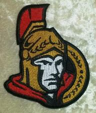 "Ottawa Senators NHL Logo 3.5"" Iron On Embroidered Patch ~USA Seller~"