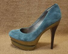 Ladies Shoes Jessica Simpson Size 38 or 8 B Blue Platform Stilleto Heels Pumps