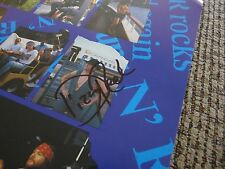 Dizzy Reed Guns & Roses Signed Autographed 12x12 Tour Book Photo PSA Guarantee