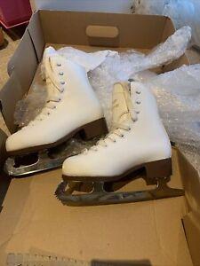 Graf Montreal White Leather Ice Skates, Size C12 Kid RRP 54.99