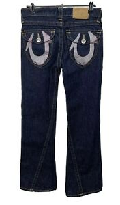 True Religion Size 14 Low Rise Bootcut Girl's Zip Fly Jeans Blue Dinim