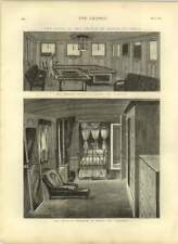 1875 Smoking Divan And Princess Bedroom On Board The Serapis