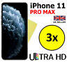 3x ULTRA HD CLEAR SCREEN PROTECTOR COVER GUARD FILMS FOR APPLE IPHONE 11 PRO MAX