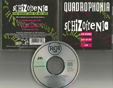 QUADROPHONIA Schizofrenia 4TRX w/ RARE MIXES LIMITED USA CD single 1994 MINT