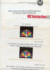 THE VIRGINIAN DAVID HARTMAN NBC PEACOCK ORIGINAL 1966 NBC TV PRESS MATERIAL