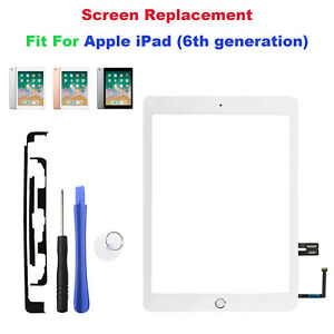 For Apple iPad 6th Gen Generation Glass Digitiser Touch Screen Replacement White