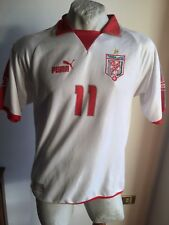Maglia calcio puma tunisia dos santos 11# maillot football shirt home 2004