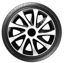 """4 x 14"""" Wheel Covers Hub Caps 14 Inch Wheel Trims Trim ABS Plastic Trim DracoWHT"""
