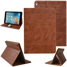 Premium Leder Cover Apple iPad Pro 10,5'' Schutz Hülle Tasche Tablet Case braun