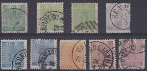 Sweden New Currency Set with green and blue shade variations. SG 6/11, Cat £750