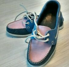 Clarks Ladies Deck Shoes, 5, Pink Blue Grey BUY NOW