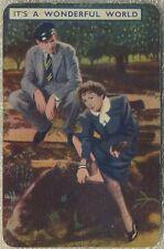 James Stewart + Claudette Colbert 1939 Film Fantasy Game Card A WONDERFUL WORLD