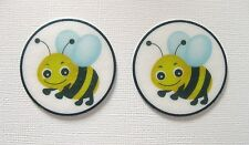 12 PRE CUT EDIBLE RICE WAFER PAPER CARD BUMBLE BEE INSECT CAKE CUPCAKE TOPPERS
