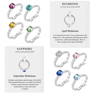 Birthstone Rings Created with Crystals from Swarovski® by Philip Jones