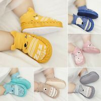 JW_ Toddler Non-Slip Boot Socks Kids Baby Cartoon Warm Shoes Anti-slip Slipper