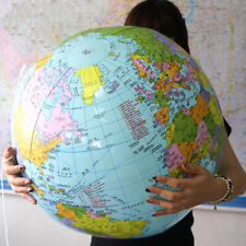 90cm Large Inflatable World Earth Globe Atlas Map Geography Beach Ball Party Toy
