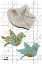 Molde de silicona pájaros flores Comida Uso FPC Pasta de Azúcar