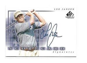 2002 SP Game Used Lee Janzen Scorecard Autograph Auto