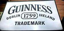 Alto detalle aerógrafo de plantilla Guinness con el logotipo de gastos de envío gratis