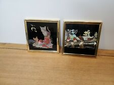 Kafka Vintage Foiled Pictures Of Cats And Birds 1985